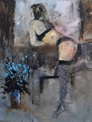 nude 454170, Paintings, Impressionism, Erotic, Canvas, By Pol Ledent