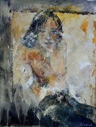 nude 456180, Paintings, Impressionism, Erotic, Canvas, By Pol Ledent