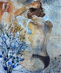nude 565130, Paintings, Expressionism, Nudes, Canvas, By Pol Ledent