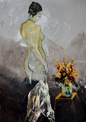 Nude 573111, Paintings, Impressionism, Erotic, Canvas, By Pol Ledent