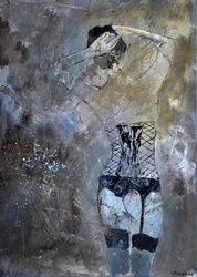 Nude 5741, Paintings, Expressionism, Erotic, Canvas, By Pol Ledent