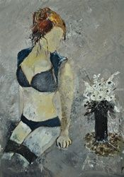 Nude 574160, Paintings, Impressionism, Erotic, Canvas, By Pol Ledent