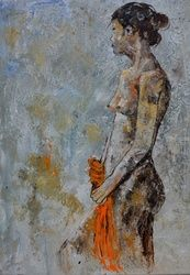 nude 575111, Paintings, Expressionism, Nudes, Canvas, By Pol Ledent