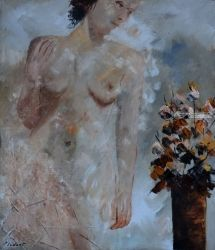 nude 767, Paintings, Expressionism, Nudes, Canvas, By Pol Ledent