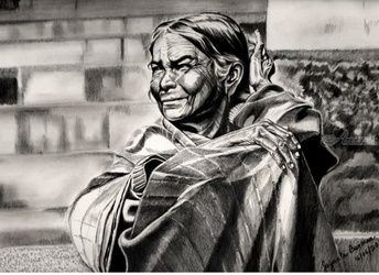 Old leddy, Drawings / Sketch, Fine Art, People, Pencil, By Jayanta Barman