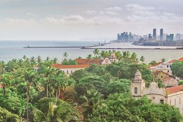 Olinda and Recife Cityscape<br>Aerial View, Photography, Realism, Landscape, Photography: Photographic Print, By Daniel Ferreira Leites