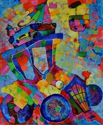On the road, Paintings, Expressionism,Impressionism, Machnine Forms, Oil, By Vyara Tichkova
