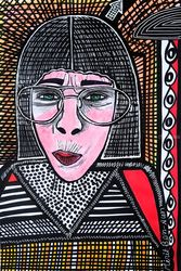 Once in a lifetime kind of<br>portrait israeli artist Mirit<br>Ben-Nun, Paintings, Expressionism, People, Ink, By Mirit Ben-Nun