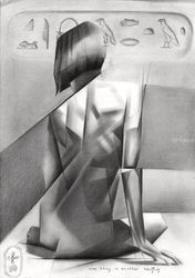 One thing in another –<br>05-01-19, Drawings / Sketch, Abstract,Cubism,Fine Art,Realism,Surrealism, Anatomy,Erotic,Figurative,Historical,Inspirational,Nudes,People, Pencil, By Corne Akkers