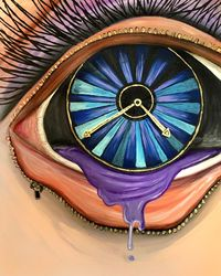 Open Your Eyes, Paintings, Fine Art,Surrealism, Conceptual, Acrylic, By adam santana