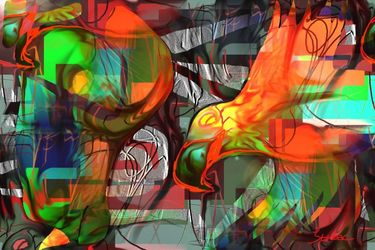 orange bird, Digital Art / Computer Art, Abstract,Modernism, Animals, Digital, By Nebojsa Strbac