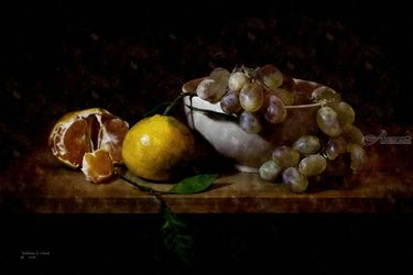 ORANGES AND GRAPES, Digital Art / Computer Art, Realism, Still Life, Digital, By William Clark