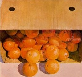 Oranges unboxed, Drawings / Sketch,Paintings, Fine Art,Realism, Composition,Still Life, Watercolor, By James Cassel