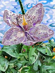 Orchid Flower, Paintings, Abstract, Nature, Oil, By Angelo