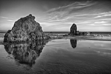 Oregon Reflections, Photography, Photorealism, Seascape, Photography: Premium Print, By Mike DeCesare