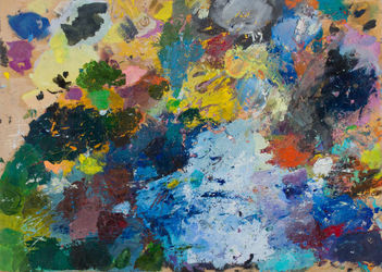 Palette, Paintings, Abstract,Expressionism, Inspirational, Oil,Wood, By Polina Kolesnik