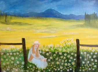 Peace, Paintings, Fine Art,Realism, Inspirational,Landscape,People, Canvas,Oil,Painting, By Lana Fultz