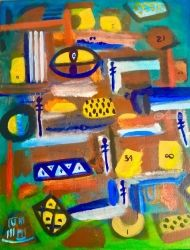 PHI-Symbolism, Paintings, Abstract, Multicultural / Ethnic, Acrylic, By Asta Yulfo