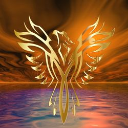 Phoenix Rising, Digital Art / Computer Art, Abstract,Commercial Design,Modernism, 3-D,Avant-Garde,Fantasy,Seascape, Digital, By Matthew Lacey