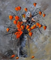 Physialis 78, Paintings, Impressionism, Floral, Canvas, By Pol Ledent