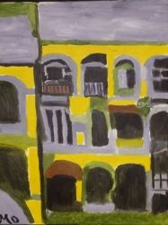Picasso's Apartment, Paintings, Modernism, Cityscape, Oil, By MD Meiser