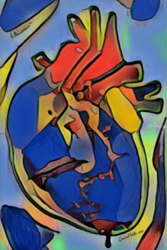 Piece of my heart by<br>QueenNoble Art, Decorative Arts,Digital Art / Computer Art,Drawings / Sketch,Graphic,Illustration,Murals,Paintings, Abstract,Cubism,Expressionism,Fine Art,Hallucinogens,Impressionism,Opticality,Sensationalism, 3-D,Anatomy,Composition,Conceptual,Daily Life,Environmental art,Figurative,Medical Art,Nature,People, Acrylic,Canvas,Digital,Painting, By Queen Noble