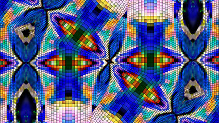 PixelWall -<br>85-02-08-18(150837)-1dolphin-0 <br>2959, Digital Art / Computer Art, Abstract, Art Brut, Digital, By Dmitry Posudin