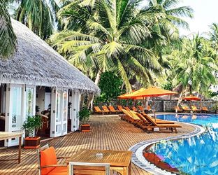 Poolside,maldives