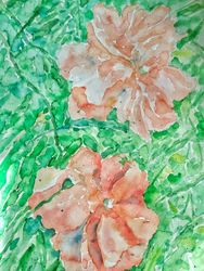 Poppies, Paintings, Impressionism, Floral, Watercolor, By Tetyana K