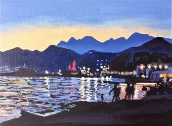 Porto Montenegro(acrylic on<br>canvas), Paintings, Fine Art, Landscape, Acrylic, By Victoria Trok