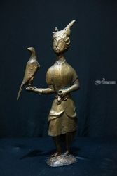 PRINCE of the Falcon1999 year<br>bronza 45 &#1093; 22 &#1093;<br>15 &#1089;&#1084;. 3000$, Sculpture, Modernism, Figurative, Bronze, By ZAKIR AHMEDOV