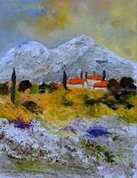 Provence 4551, Paintings, Impressionism, Botanical, Canvas, By Pol Ledent