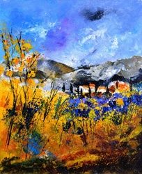 provence 5642, Architecture,Decorative Arts,Drawings / Sketch,Paintings, Impressionism, Decorative,Nature, Canvas, By Pol Ledent