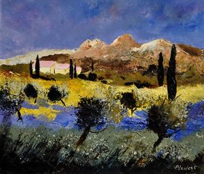 Provence 7645, Paintings, Impressionism, Landscape, Canvas, By Pol Ledent