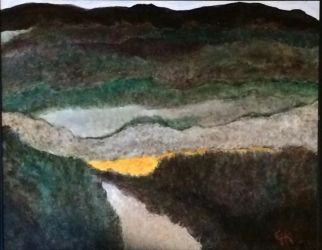 Pulliam Creek in Nueces Canyon, Paintings, Abstract, Landscape, Acrylic, By Eric Kirkpatrick
