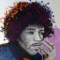 Purple Haze:Portrait of jimi Hendrix
