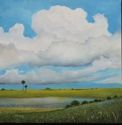 Reach The Cloud, Paintings, Impressionism, Landscape, Oil, By Alicia Maury