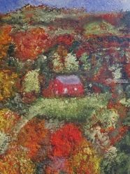 Red Barn, Paintings, Expressionism, Landscape, Painting, By Jim Relyea
