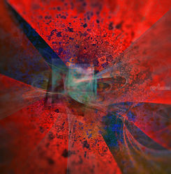 Red dragon, Decorative Arts,Digital Art / Computer Art, Abstract,Fine Art, 3-D,Composition,Mathematics, Digital, By Jean-François Dupuis