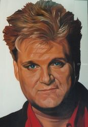 Ricky Skaggs, Murals,Paintings, Fine Art,Realism, Figurative,People,Portrait, Oil,Painting, By James Cassel