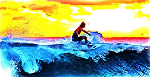 Riding the Wave, Digital Art / Computer Art, Realism, People, Digital, By Joshua Bindseil
