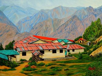 Rising High, Paintings, Expressionism,Photorealism,Realism, Landscape, Canvas, By Ajay Harit