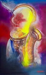Ritmo Latino, Decorative Arts, Fine Art, Music, Canvas, By Van Robert Familia