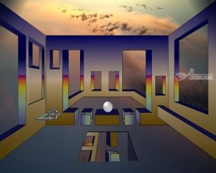 ROOM OF ILLUSIONS III, Digital Art / Computer Art, Surrealism, Architecture, Digital, By Alan King