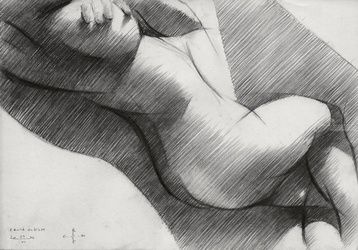 Round cubism - 22-06-14, Drawings / Sketch, Abstract,Cubism,Fine Art,Impressionism,Realism,Surrealism, Anatomy,Composition,Erotic,Figurative,Inspirational,Nudes,People, Pencil, By Corne Akkers