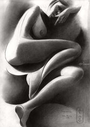 Roundism – 07-08-20, Drawings / Sketch, Cubism,Fine Art,Realism,Surrealism, Composition,Erotic,Figurative,Inspirational,Nudes,People, Pencil, By Corne Akkers