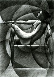 Roundism - 21-11-14, Drawings / Sketch, Abstract,Cubism,Fine Art,Impressionism,Realism,Surrealism, Anatomy,Composition,Erotic,Figurative,Inspirational,Nudes,People, Pencil, By Corne Akkers