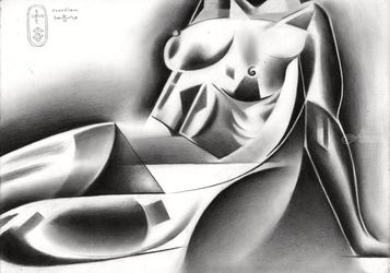 Roundism – 31-03-20, Drawings / Sketch, Cubism,Fine Art,Realism,Surrealism, Anatomy,Composition,Erotic,Figurative,Inspirational,Nudes,People, Pencil, By Corne Akkers