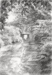 Royal Estate De Horsten -<br>19-07-14, Drawings / Sketch, Abstract,Fine Art,Impressionism,Realism, Composition,Figurative,Inspirational,Landscape,Nature, Pencil, By Corne Akkers