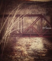 Rusted Rails, Photography, Photorealism, Nature, Photography: Photographic Print, By Elizabeth DeFeo